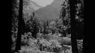 View of the Merced River in Yosemite Valley at Yosemite National Park Stock Footage