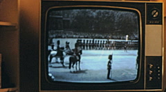 England late 1960s: TV in the living room Stock Footage