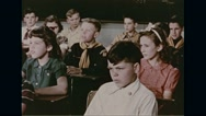 Students singing song of Smokey the bear in school Stock Footage