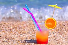 Cocktail - refreshing summer drink Stock Photos