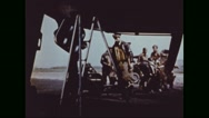 Bombardment group boarding Boeing B-17 Flying Fortress Stock Footage