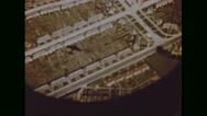 View of town from Boeing B-17 Flying Fortress Stock Footage