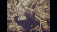 Boeing B-17 Flying Fortresses flying over German land Stock Footage