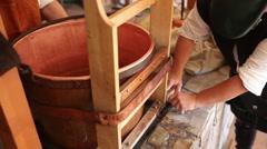 Medieval Beer being prepared for breweing Stock Footage