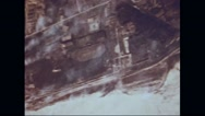 Boeing B-17 Flying Fortresses attacking the target Stock Footage
