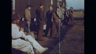 Ground crew waiting for the arrival of Boeing B-17 Flying Fortresses Stock Footage