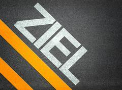 text writing road asphalt - stock illustration