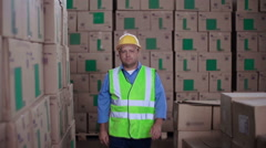Warehouse Worker Stock Footage
