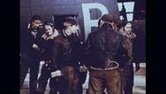 Bomber crew members discussing every detail of mission Stock Footage