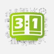 Drawing business formulas: score board - stock illustration