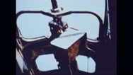 Guns left hanging in Boeing B-17 Flying Fortress Stock Footage
