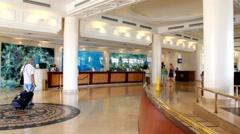 Modern luxury hotel lobby Stock Footage