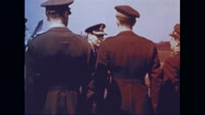 King and Queen of England visiting greeting crew of Memphis Belle Stock Footage