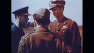King Edward VIII greeting crew of Memphis Belle Stock Footage