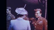 Queen Elizabeth II talking to crew of Memphis Belle Stock Footage
