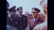 King Edward VIII talking to crew of Memphis Belle Stock Footage