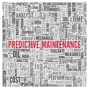 predictive maintenance concept word tag cloud design - stock illustration