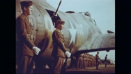 Soldiers waiting for General Ira Clarence Eaker and Jacob Loucks Devers Stock Footage