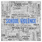 school violence concept word tag cloud design - stock illustration
