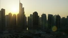 Stock Video Footage of Aerial Dubai Skyscrapers Almas Tower Apartment Building UAE