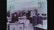 Employees working in National Computer Center Stock Footage