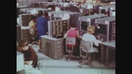 Employees working at National Computer Center Stock Footage
