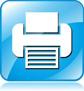 Printer icon Stock Illustration