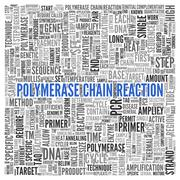 polymerase chain reaction concept tag cloud design - stock illustration