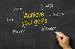 achieve your goals - stock photo