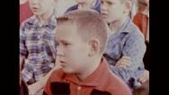 Service men's children sitting for biological test Stock Footage