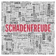 Schadenfreude concept word tag cloud design Stock Illustration