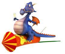 fun dragon - stock illustration
