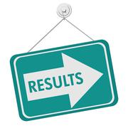 Stock Illustration of results sign