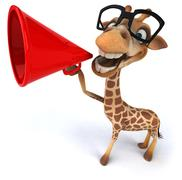 Stock Illustration of fun giraffe