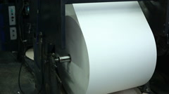 production of paper, close up 3 - stock footage