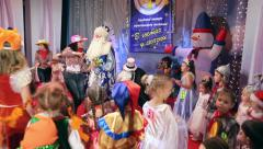 New Year's children's costume contest Stock Footage