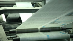 printing paper in printing house 6 - stock footage