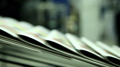 printing paper in printing house 5 - stock footage