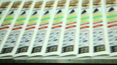 printing paper in printing house 4 - stock footage