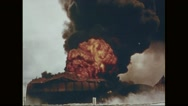 Explosion taking place on Midway Island Stock Footage
