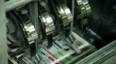 typography, printing newspapers, circulation 7 - stock footage