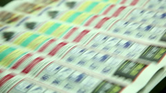 Typography, printing newspapers, circulation 5 Stock Footage