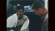 Survivor Marine corp getting into the van Stock Footage