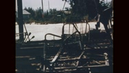 Wreckage of destroyed hospital post war Stock Footage