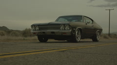 Chevelle Swerving and speeding Stock Footage