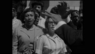 Volunteers singing during The March Stock Footage