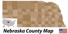 Stock Illustration of Nebraska County Map