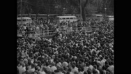American protesters at Civil Rights March Stock Footage