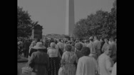 American protesters arriving at Civil Rights March Stock Footage