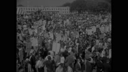 American protesters in Civil Rights March Stock Footage